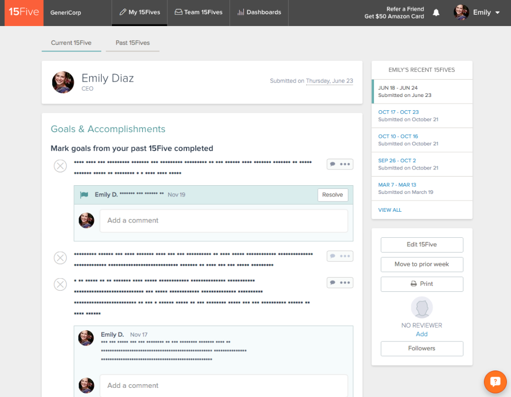 Can 15Five employees view our reports? - 15Five Customer Success