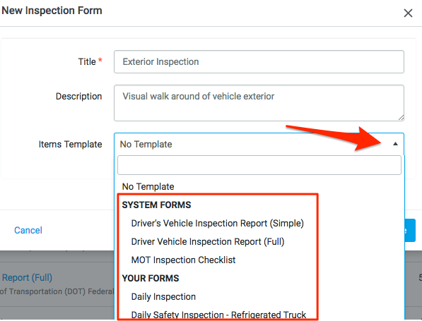Building Inspection Forms Fleetio Help Center – Vehicle Inspection Checklist Template