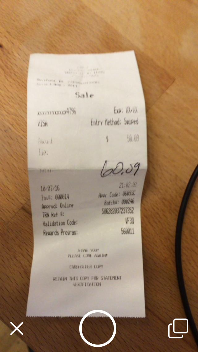 store receipt