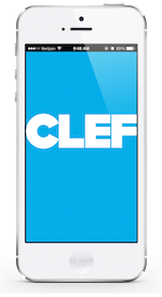 The Clef mobile app for iOS and Android phones
