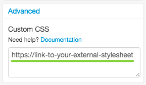Add Link to External StyleSheet