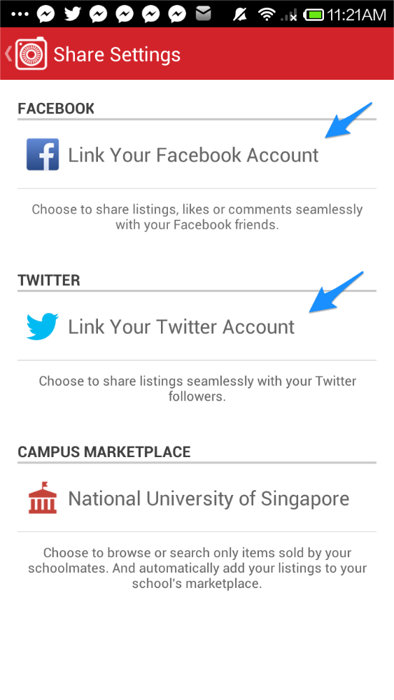 how do you share your twitter page on facebook