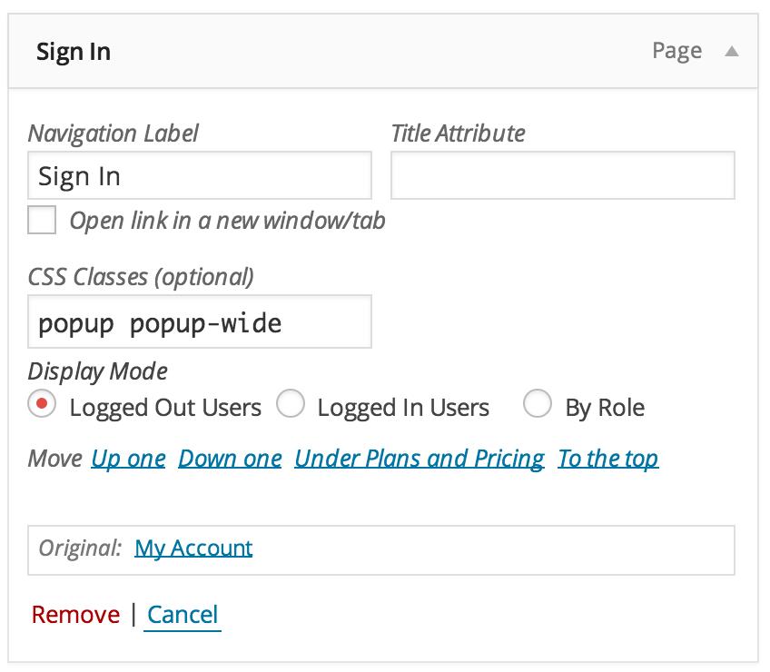 creating a popup menu item listify theme documentation netcool tips