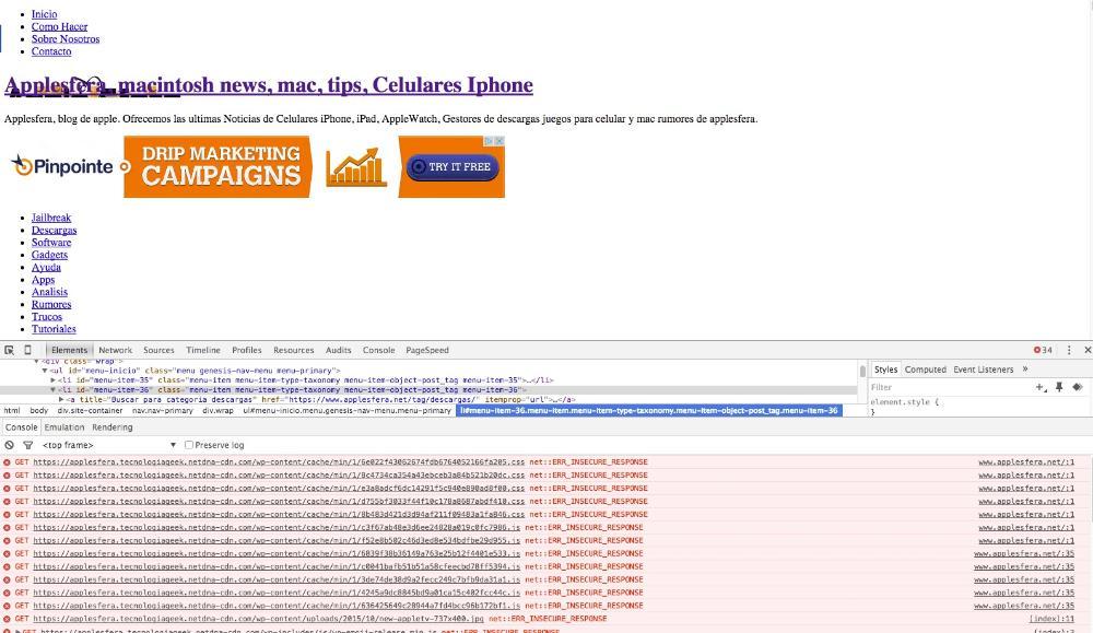 Fehlermeldungen in der Browser-Konsole
