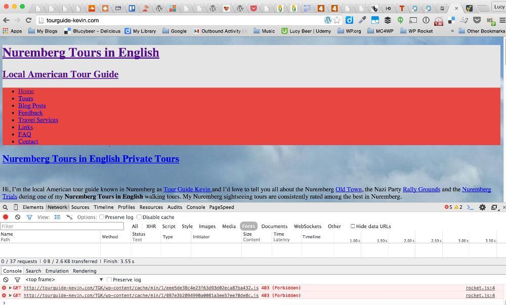 Fehler 403 (Forbidden) in der Browser-Konsole
