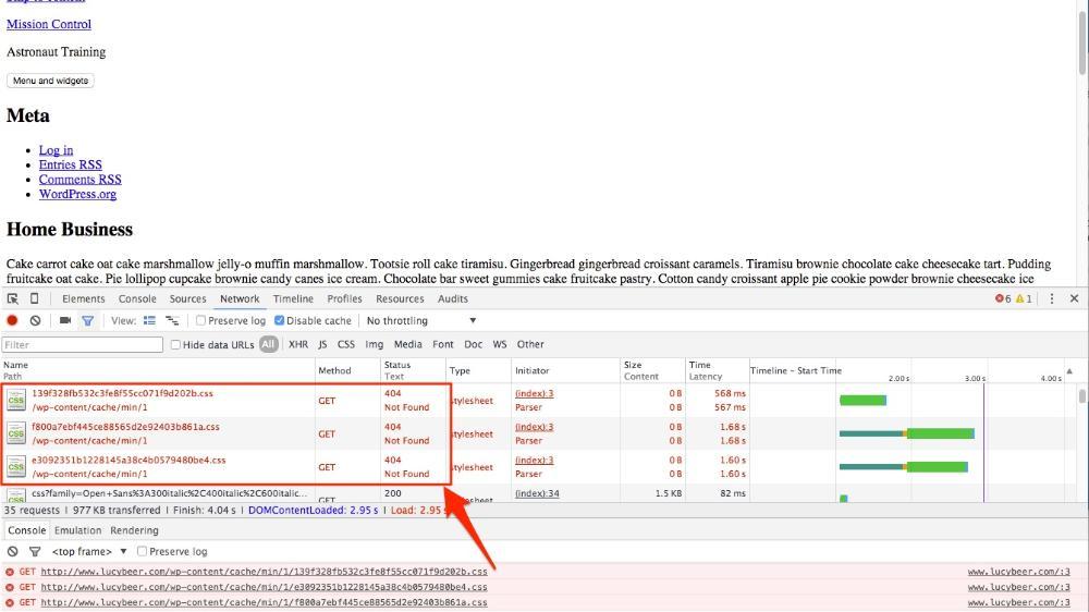 Fehler 404 bei minifizierten Dateien in der Browser-Konsole