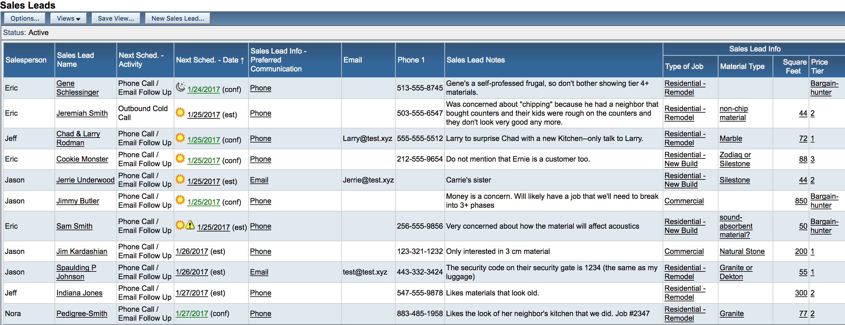 s leads creating lead views moraware countergo jobtracker help example of all active s leads view