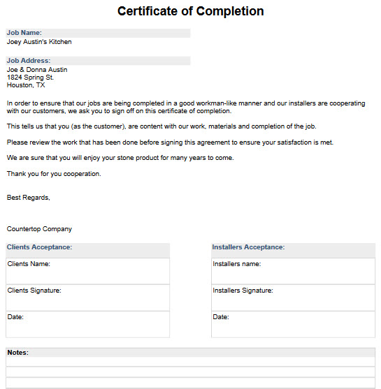 Sample Job Forms to Download and Import - Moraware CounterGo ...