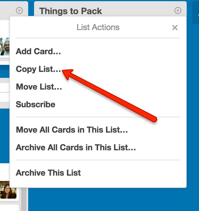 Copying cards, lists, or boards - Trello Help
