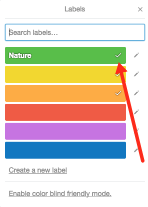 adding labels to cards trello help