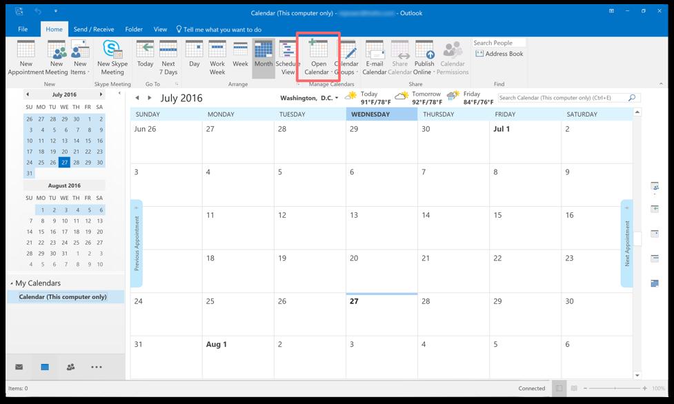 microsoft calendar