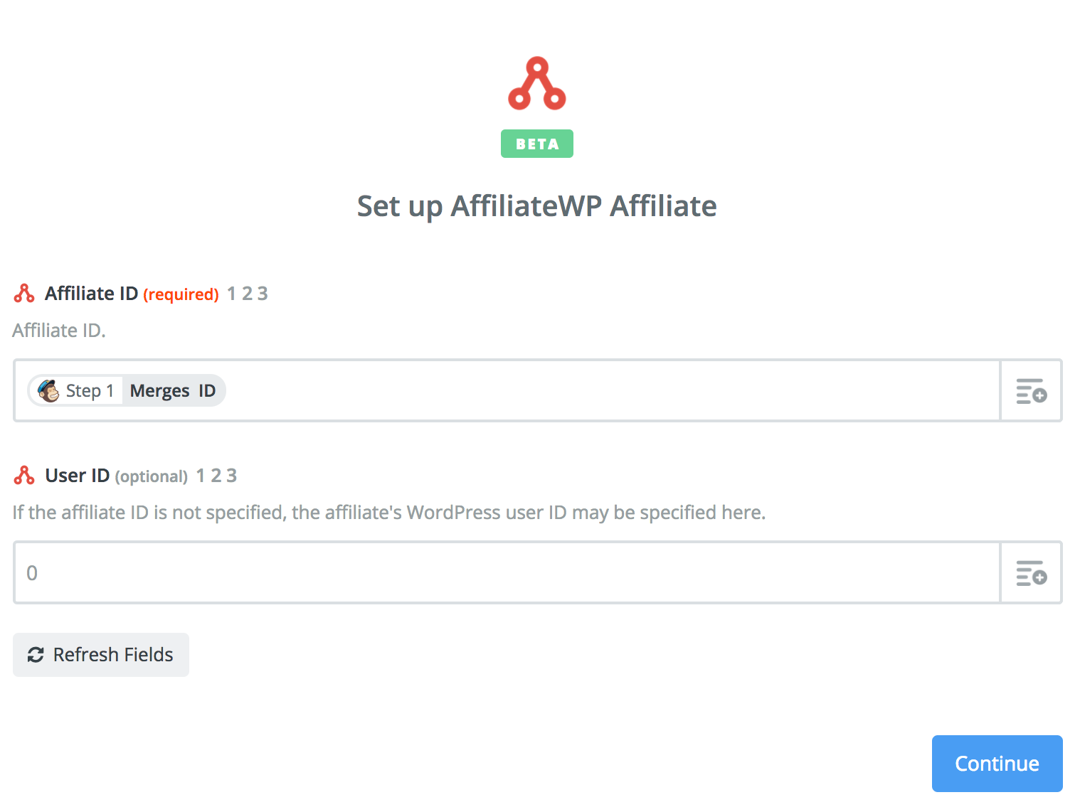Mapping the ID created in Mailchimp to AffiliateWP