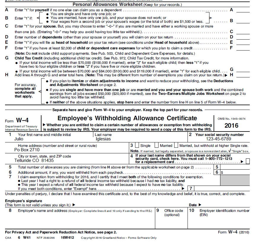 Prefilled W4s ASAP Help Center – W4 Worksheet