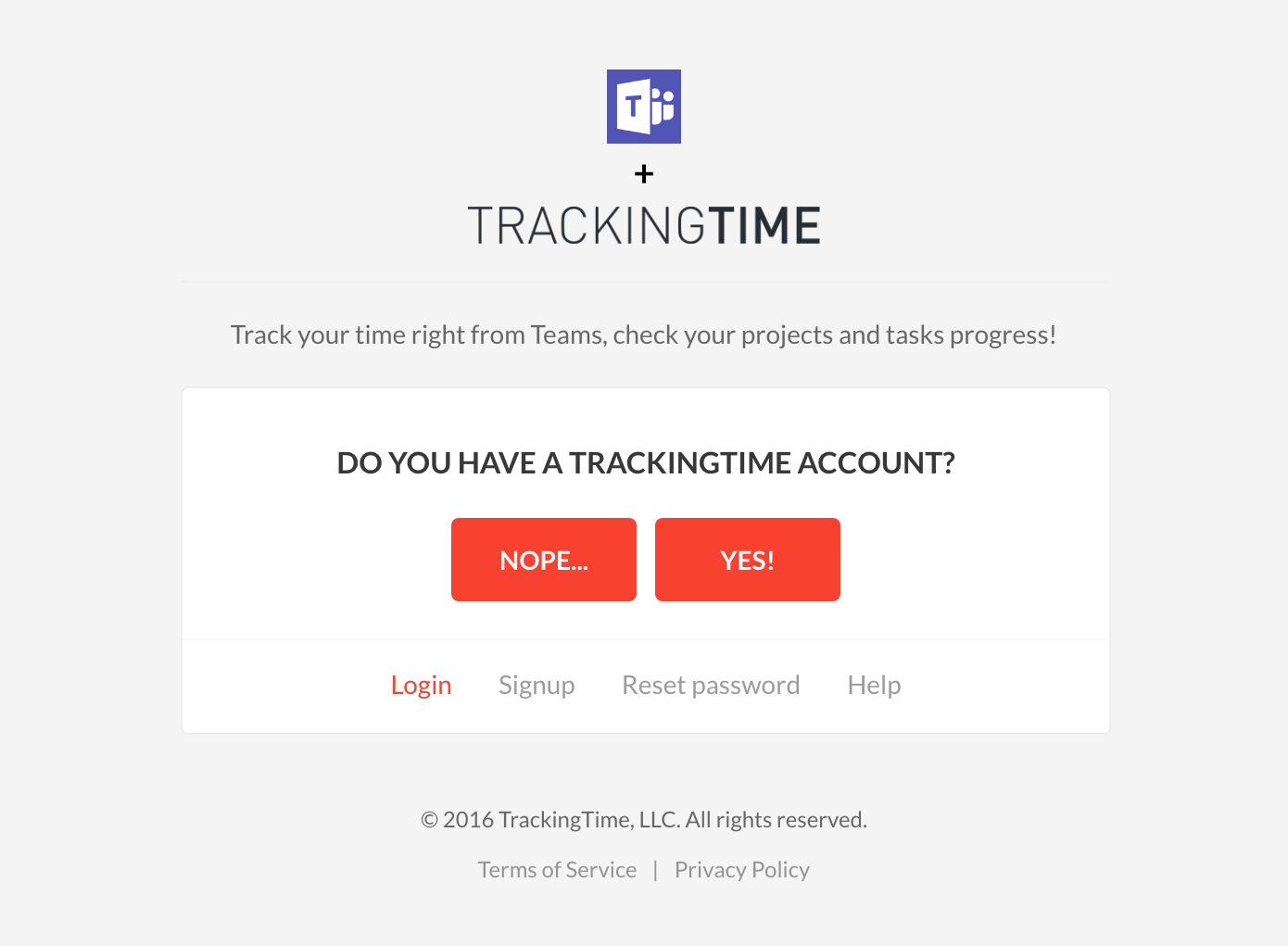 Link Teams with TrackingTime