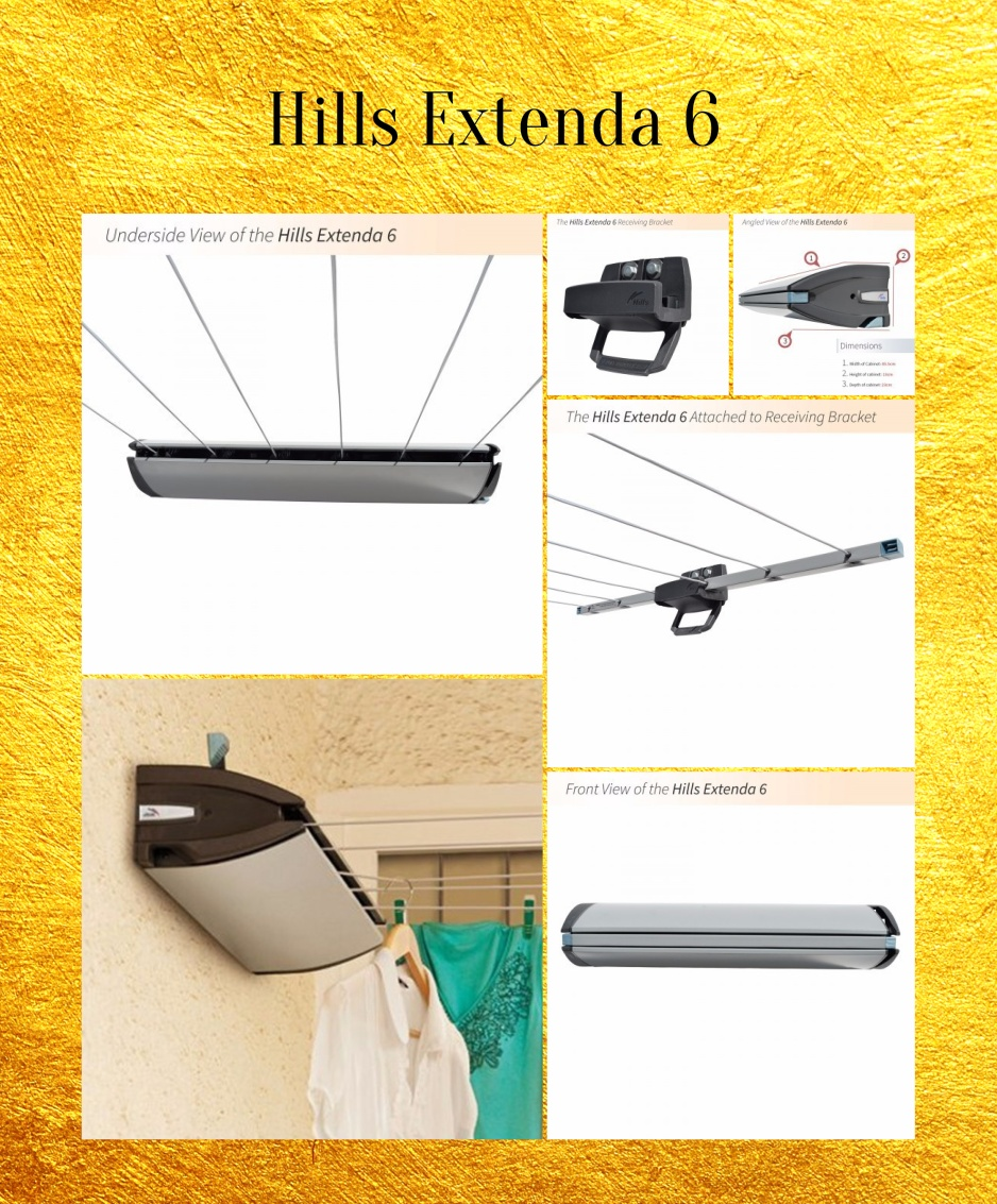 heavy duty retractable clothes line picture