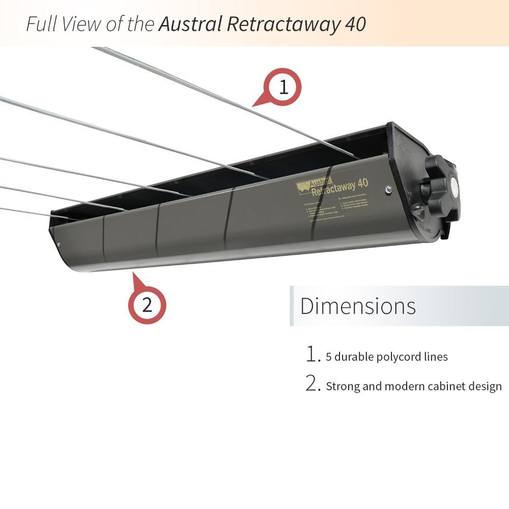 Austral 5 Line Retractable Clothesline