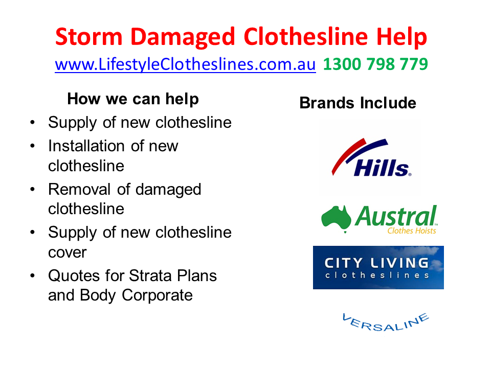 storm damaged clothes line