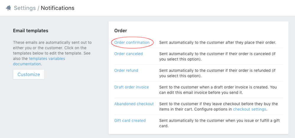 Display option selections in order confirmation emails - ShopPad ...