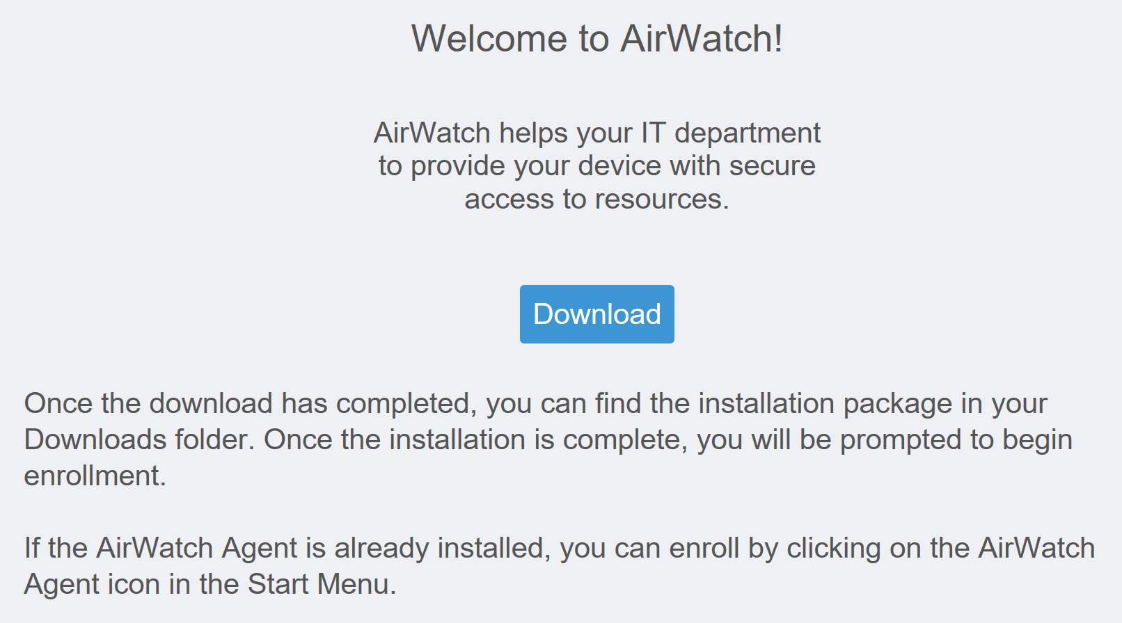 Windows 10 introductory walkthrough vmware testdrive support with the airwatch agent users no longer need search for and click through windows settings to enroll enter server names or wait on the agent to yadclub Gallery
