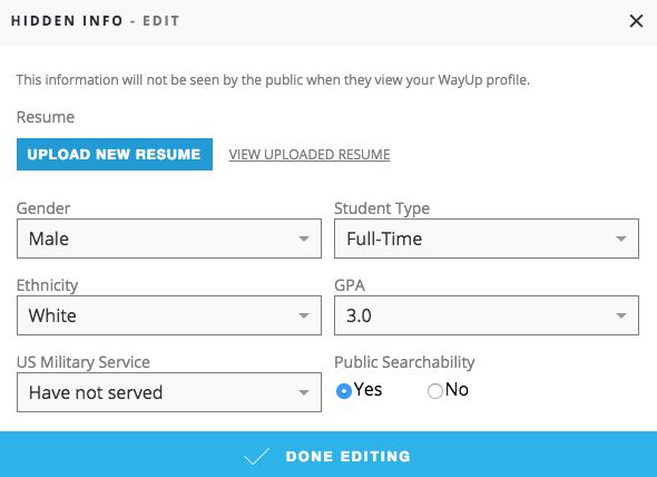 uploading a resume wayup knowledge base