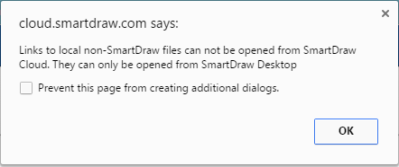 hyperlinks from other file types word excel pdf etc cannot be opened in smartdraw cloud a user will experience the following error message when - Smartdraw Pdf