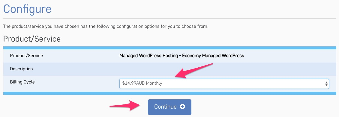 Configure your hosting billing cycle with NetOrigin
