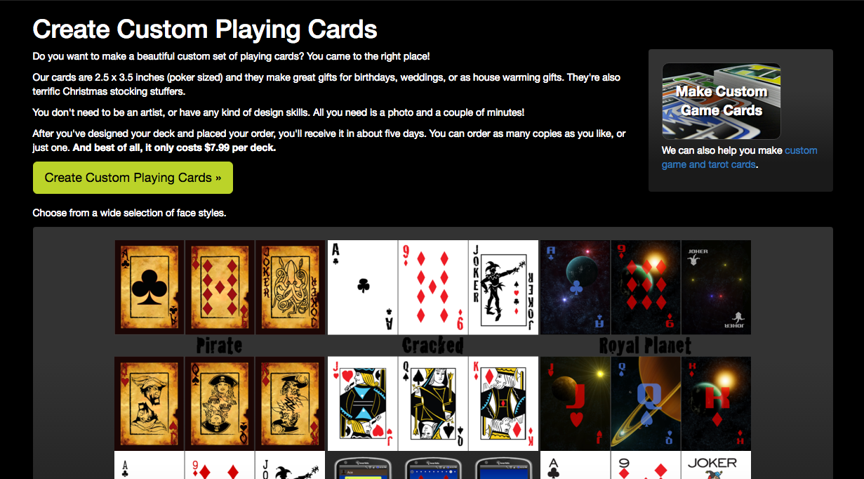 Make Custom Playing Cards Part - 20: The Page You Are On Is For Making Custom Playing Cards With The Traditional  Suits Of Hearts, Spades, Clubs, And Diamonds.