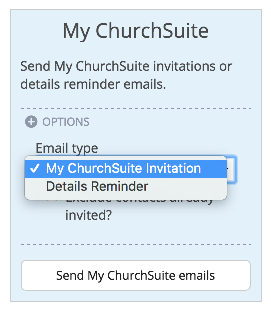 4 Send My ChurchSuite invites to your church members – Email Invitation