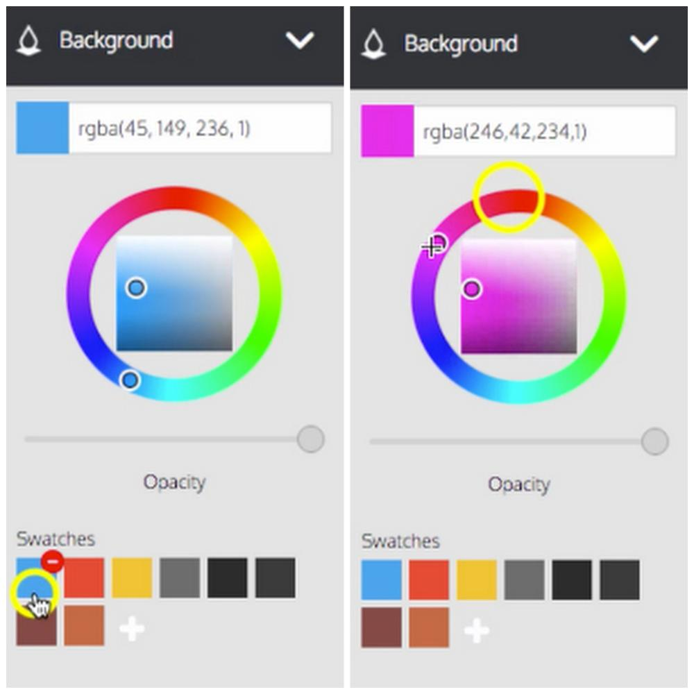 Color picker online rgba - You Can Either Choose A Colour From The Existing Swatches Or You Are Free To Choose Your Own Colour With The Colour Picker