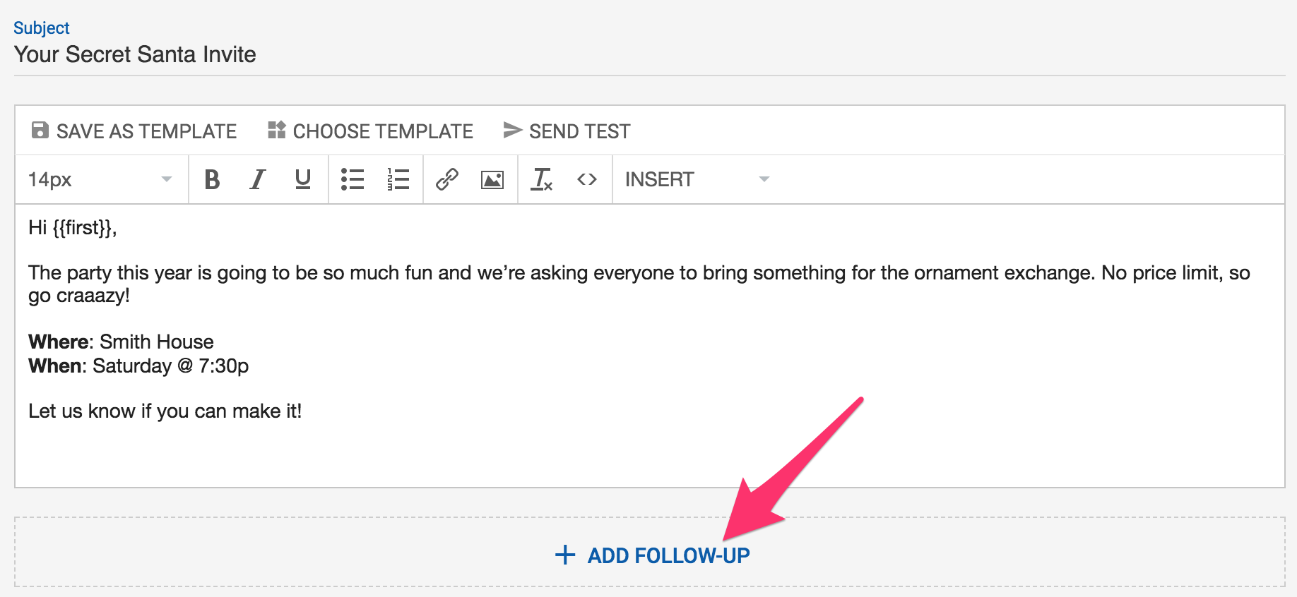 writing a follow up email
