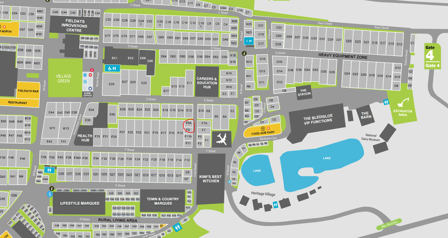 Fieldays Map