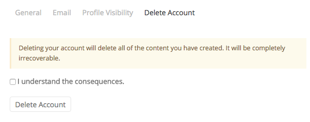 Confirm Deletion of Your Account