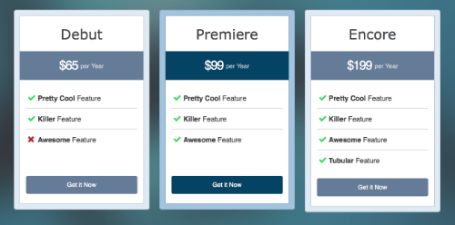 Pricing table module overview beaver builder knowledge base for Html table markup