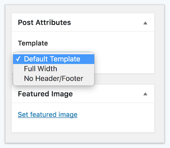 Change the wordpress page template for single pages and posts note any template setting besides default suppresses the featured image on that post page no matter how it is set in customizer content post layout pronofoot35fo Image collections