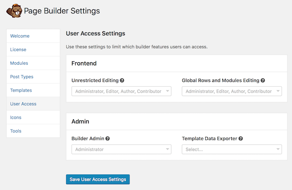 Control user access by role beaver builder knowledge base control user access by role pronofoot35fo Image collections