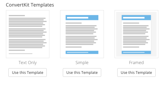 New improved email templates in app convertkit knowledge base new improved email templates in app pronofoot35fo Image collections