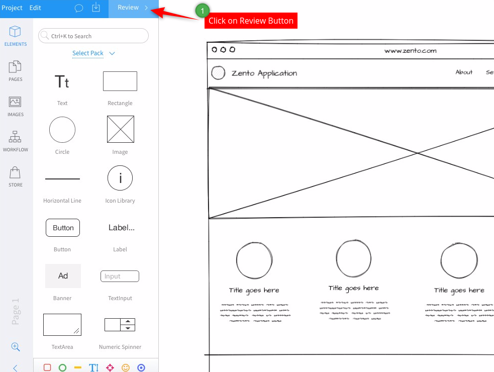 How To Export My Wireframe Project