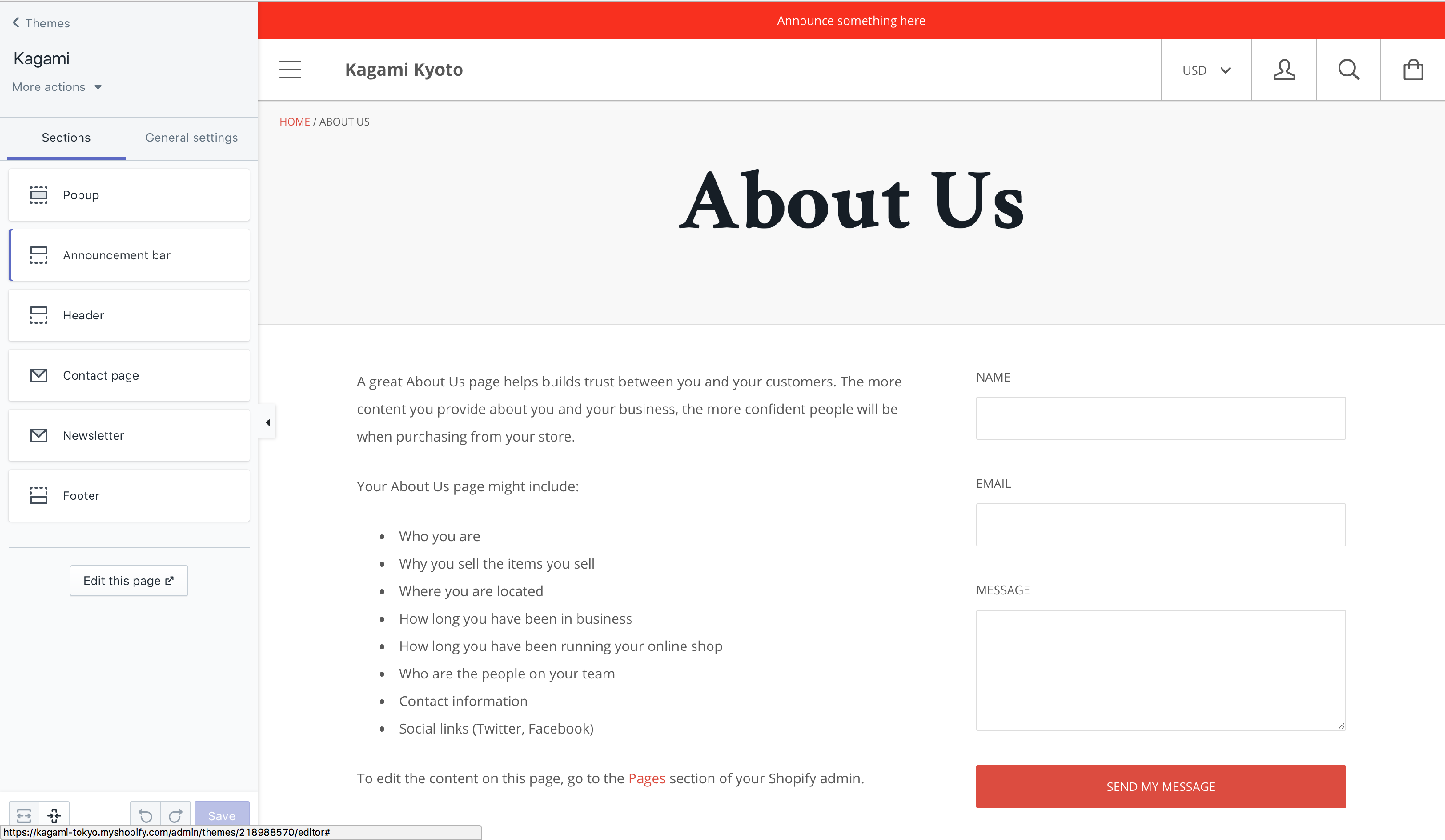 CONTACT PAGE Adding A Map Shopify Themes Knowledge Base - Adding text to us map