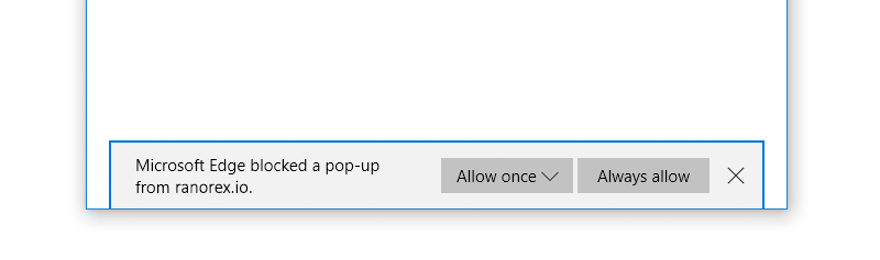 Allow pop-ups in Edge