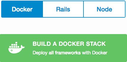 Build a new docker stack from an empty dashboard