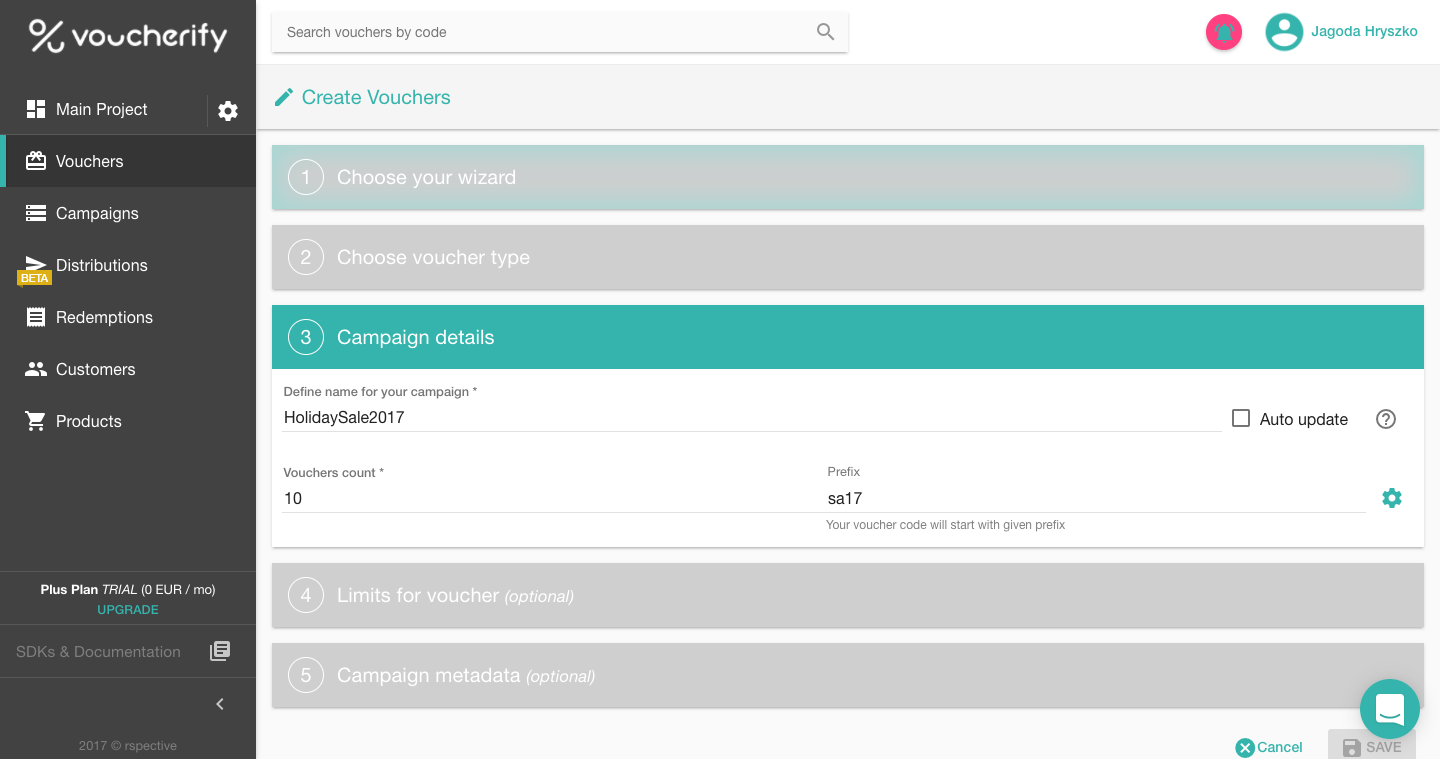 How do I create my first campaign Voucherify Support – Create a Voucher
