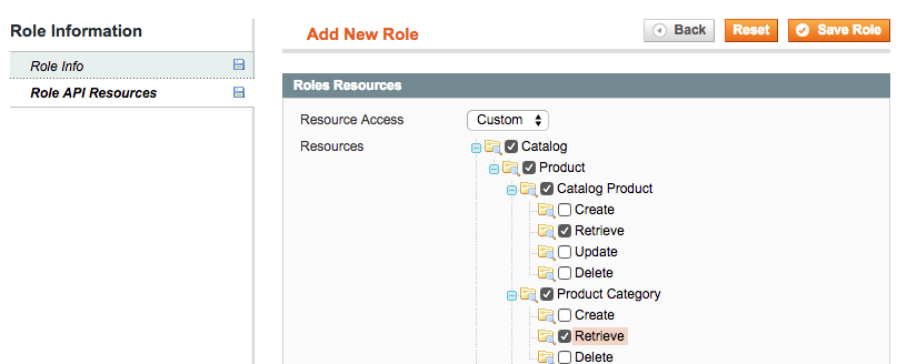 Assign Role Resources