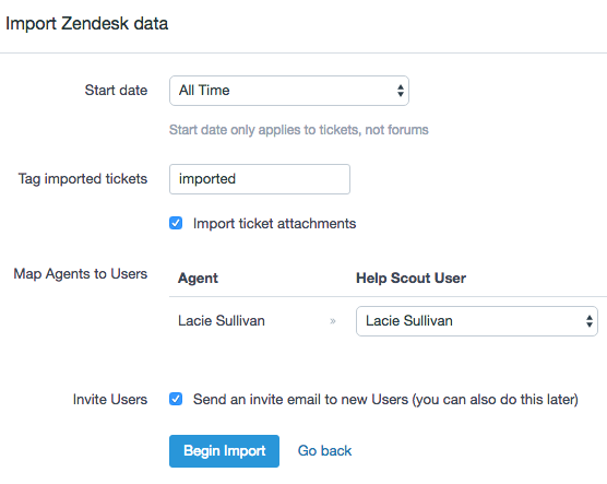 Moving from Zendesk - Help Scout Support