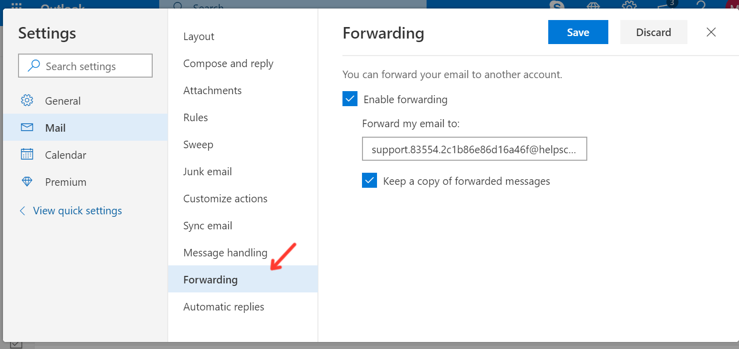 Forward from Outlook com - Help Scout Support