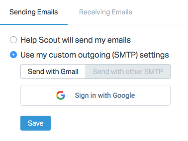 Send Messages Using Google OAuth - Help Scout Support