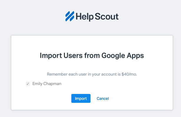 G Suite Integration - Help Scout Support