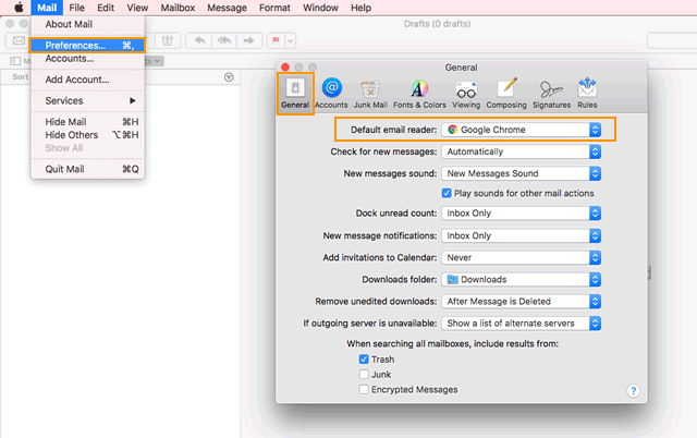 How to set your default email client for Mac - OnePageCRM