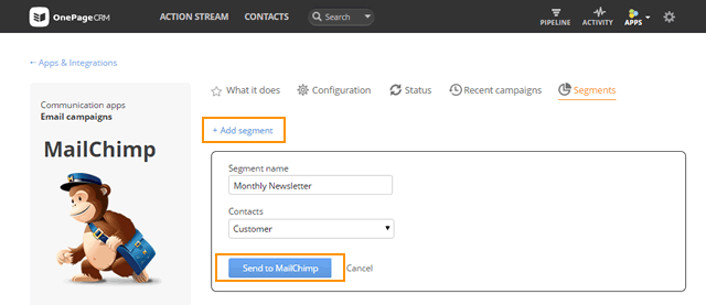 Email Campaigns - OnePageCRM Help Center