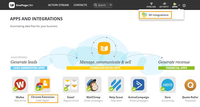 Chrome Extension - OnePageCRM Help Center