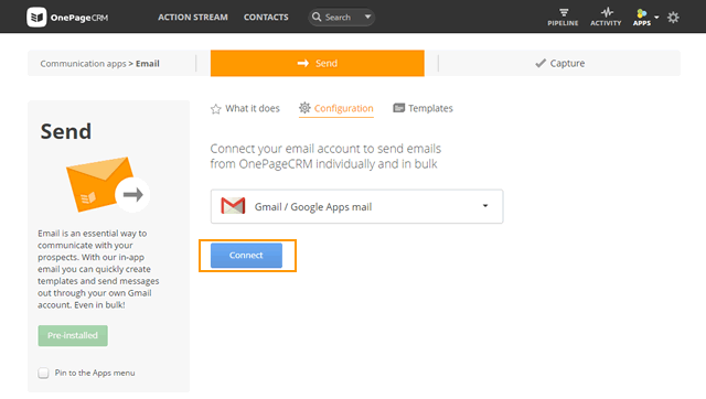 How to connect your Gmail account, create templates and send bulk
